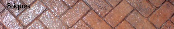 béton imprimé briques