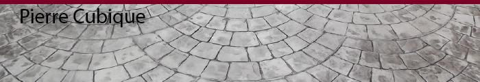 béton imprimé pierre cubique